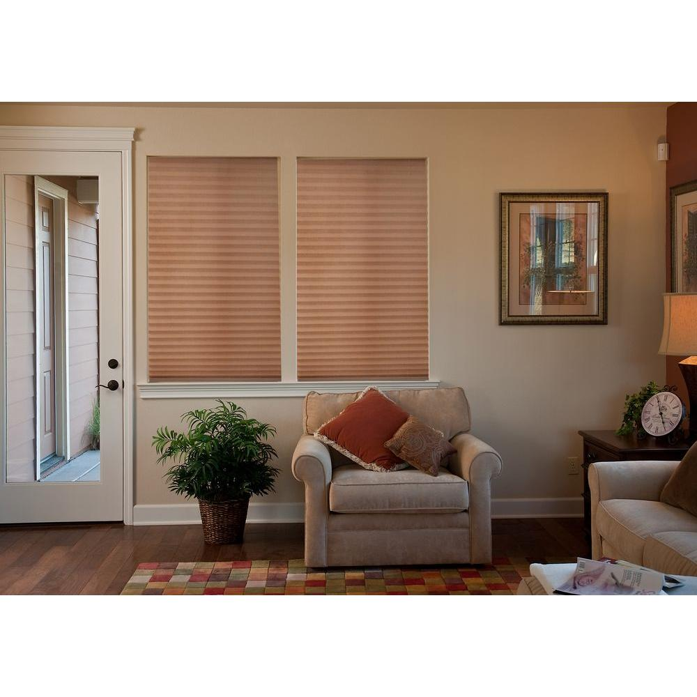 Redi Shade Easy Lift Mocha Cordless Light Filtering Pleated Shade - 48 in. W x 64 in. L