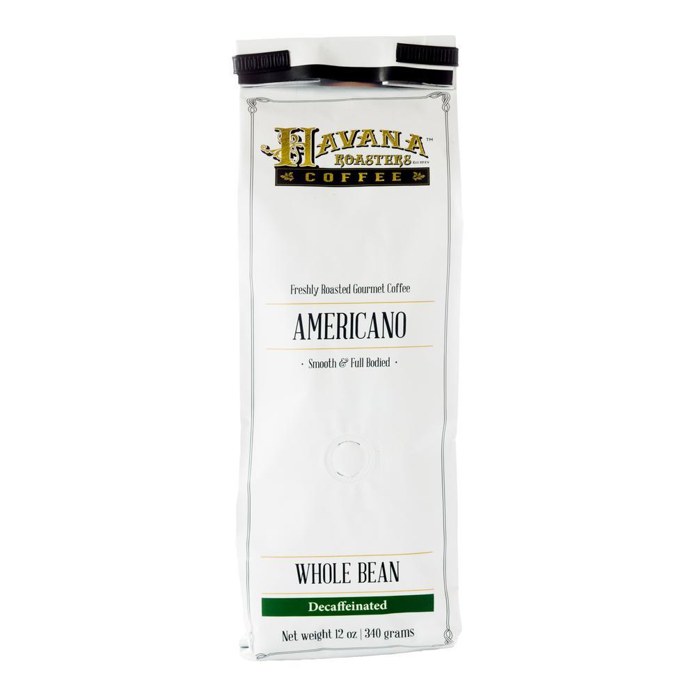 12 oz. Americano Decaf Whole Beans Coffee (12-Bags)