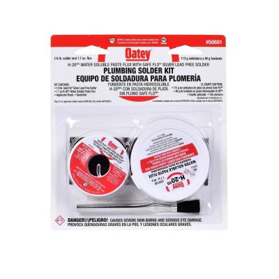 Soldering Kit with 1.7 oz. Lead-Free Water Soluble Flux Paste and 4 oz. Silver Solder Wire