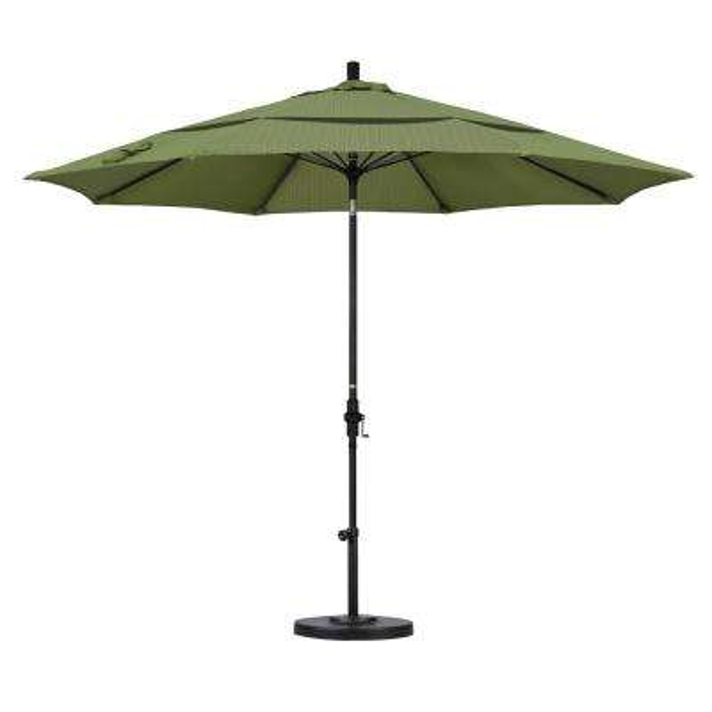 Marvelous 11 Ft. Fiberglass Collar Tilt Double Vented Patio Umbrella ...