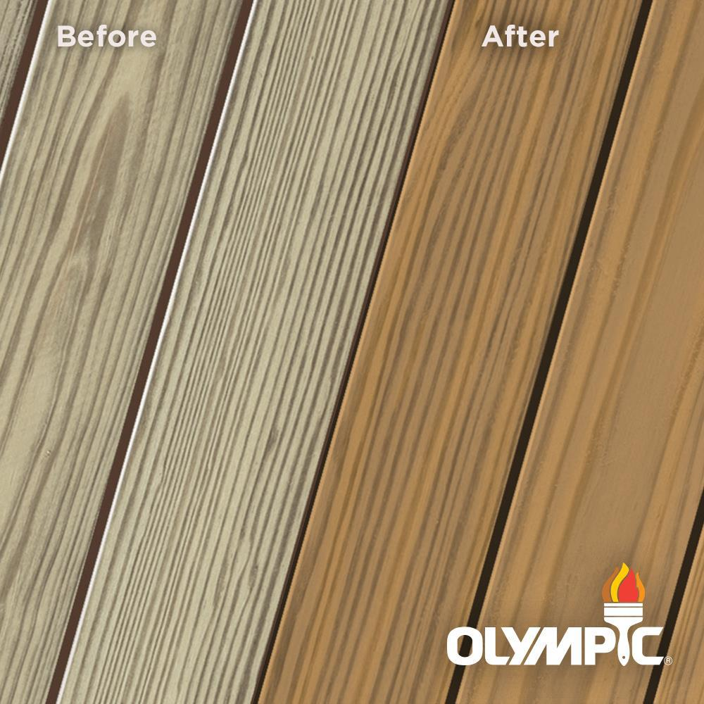Olympic Elite 1 Gal. Rustic Cedar Semi-Transparent Exterior Wood Stain and Sealant in One