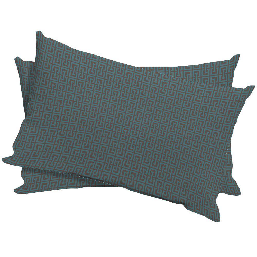 Arden Mitsu Key Boxwood Outdoor Lumbar Pillow (2-Pack)-DISCONTINUED