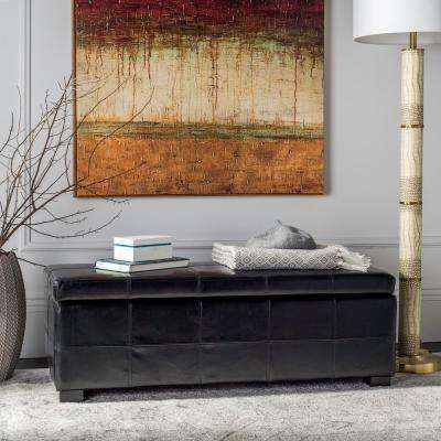 Lily Black Storage Bench
