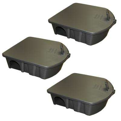 Rat and Mouse Bait Station Trap (3-Pack)