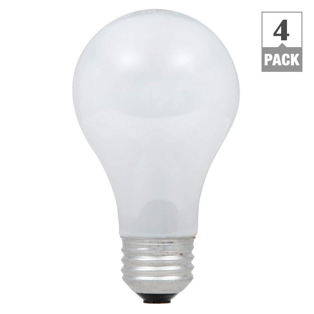 60-Watt Equivalent A19 Dimmable Eco-Incandescent Light Bulb, Soft White (4-Pack)