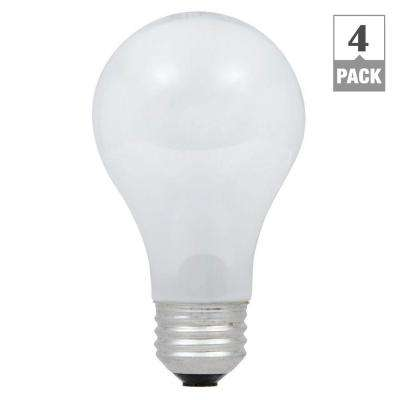 60-Watt Equivalent Eco-Incandescent Soft White A19 Dimmable Light Bulb (4-Pack)