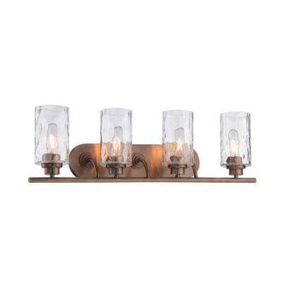 Gramercy Park 4-Light Old Satin Brass Interior Incandescent Bath Vanity Light