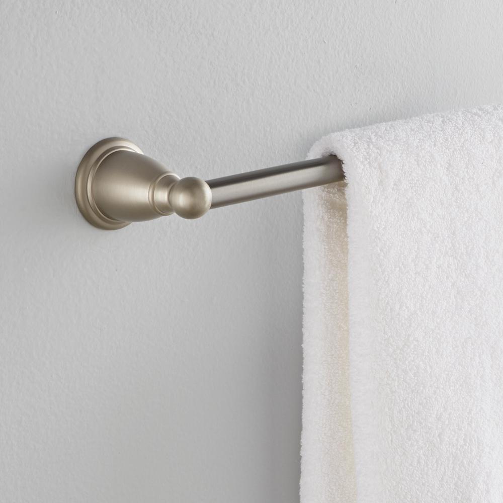 Brantford 24 in. Towel Bar in Brushed Nickel