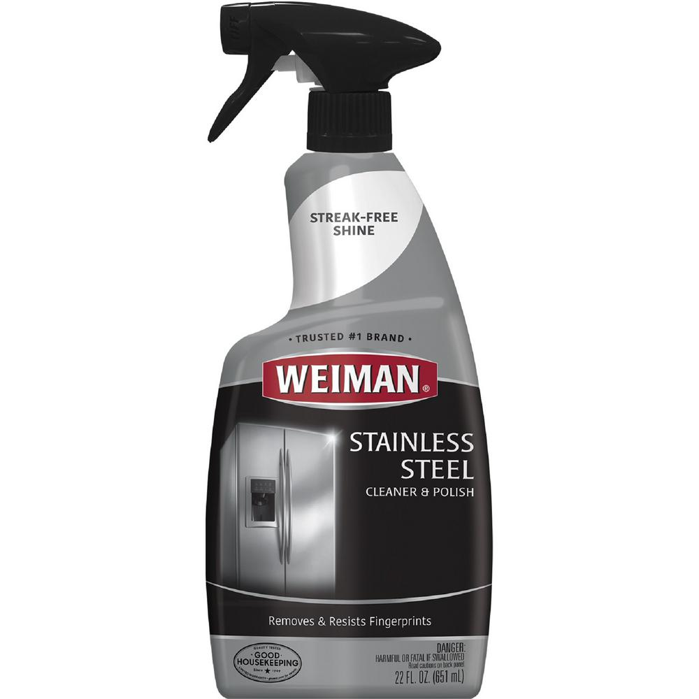 37ffc0875 Weiman 22 oz. Stainless Steel Cleaner Trigger-108 - The Home Depot