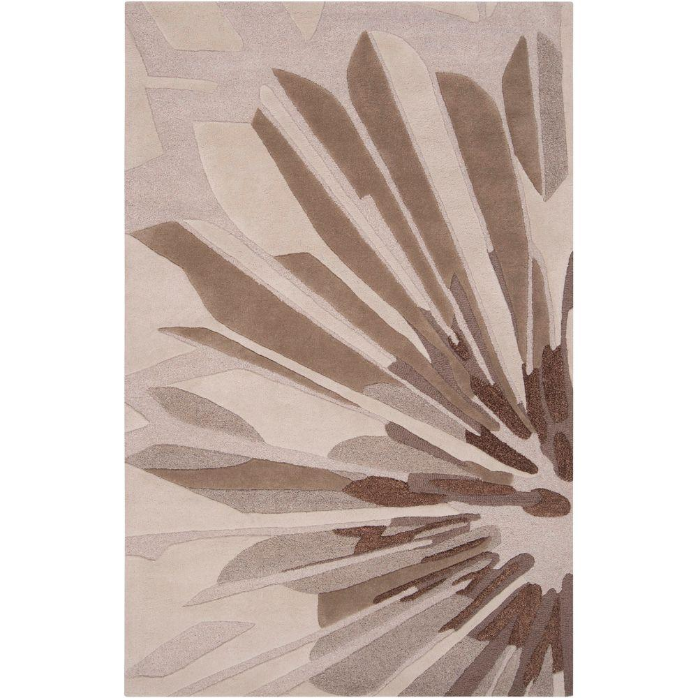 Candice Olson Oyster Gray 5 ft. x 8 ft. Area Rug