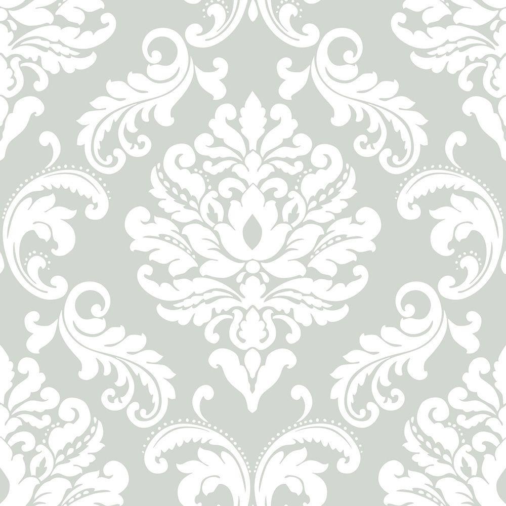 NuWallpaper Grey Ariel Peel and Stick Wallpaper Sample NU1935SAM