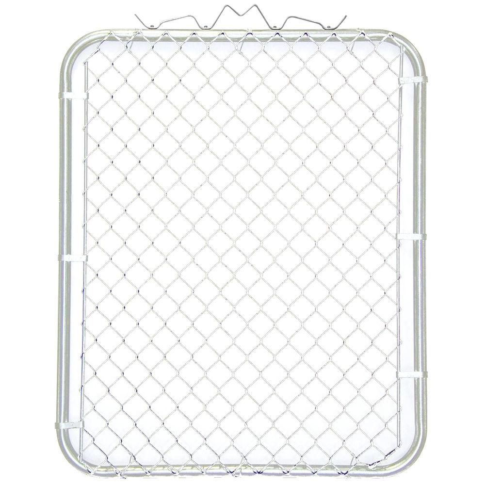 38 in. W x 48 in. H White PVC Coated Steel