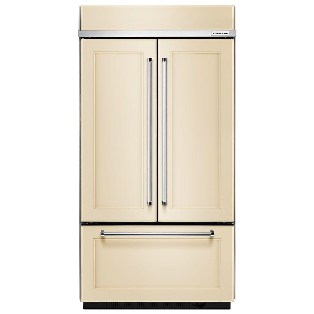 Kitchenaid 208 Cu Ft Built In French Door Refrigerator In Panel