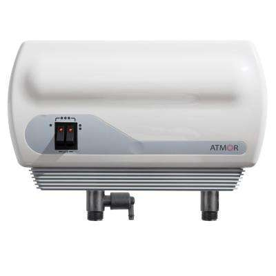 Single Sink 3kW/110V Electric Tankless Water Heater 0.5 GPM, Pressure Relief Device, 0.5 GPM Aerator, Instant Hot Water