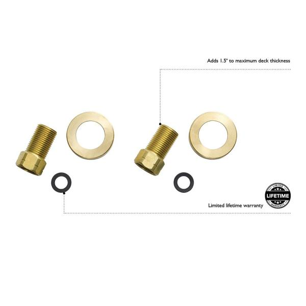 Design House Kitchen Faucet Water Supply Line Extension Kit 522680 The Home Depot