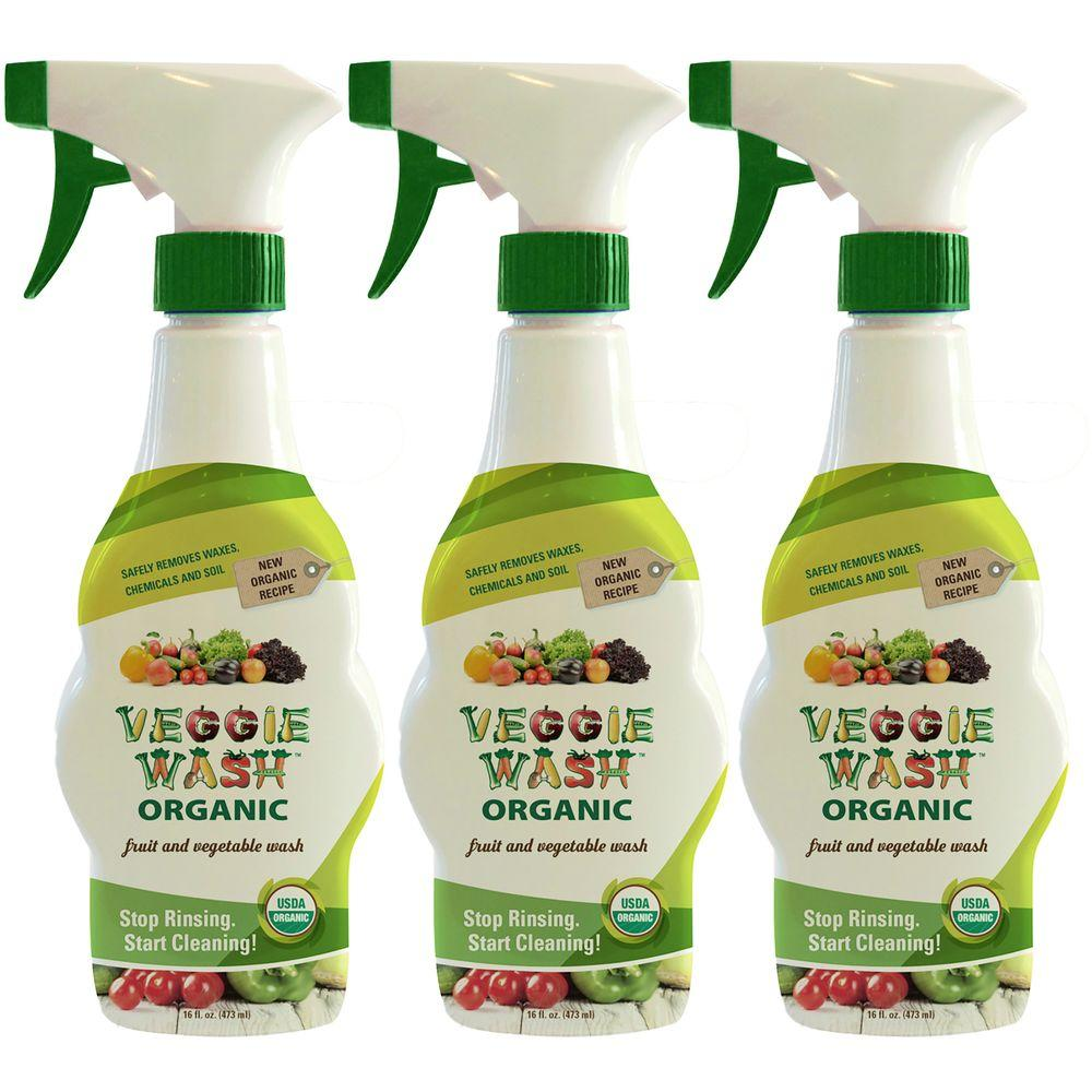 Veggie Wash Organic 16 fl. oz. Fruit and Vegetable Wash (3-Pack)