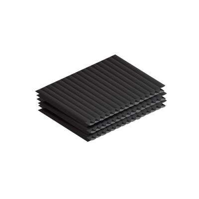 18 in. x 24 in. x 0.15 in. Black Corrugated Twin Wall Plastic Sheet (12-Pack)