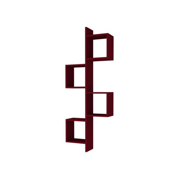 Ada Home Decor Wayman Burgundy Modern Wall Shelf DCRW2266