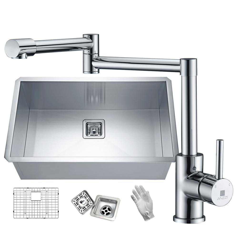 Single Handle Pot Filler Chrome Faucets Price Compare