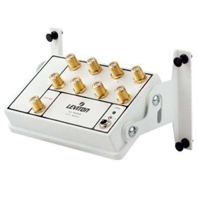 Structured Media Center Premium 1x8 (6-Way) Active Video Amplified Splitter Module - White