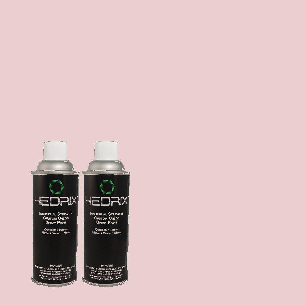 Hedrix 11 oz. Match of 100C-2 Cool Pink Flat Custom Spray Paint (2-Pack)