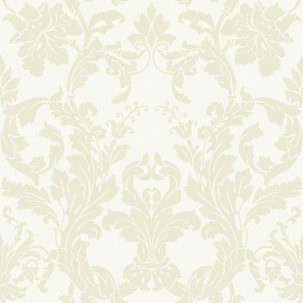 York Wallcoverings 56 sq. ft. Acanthus Damask Wallpaper