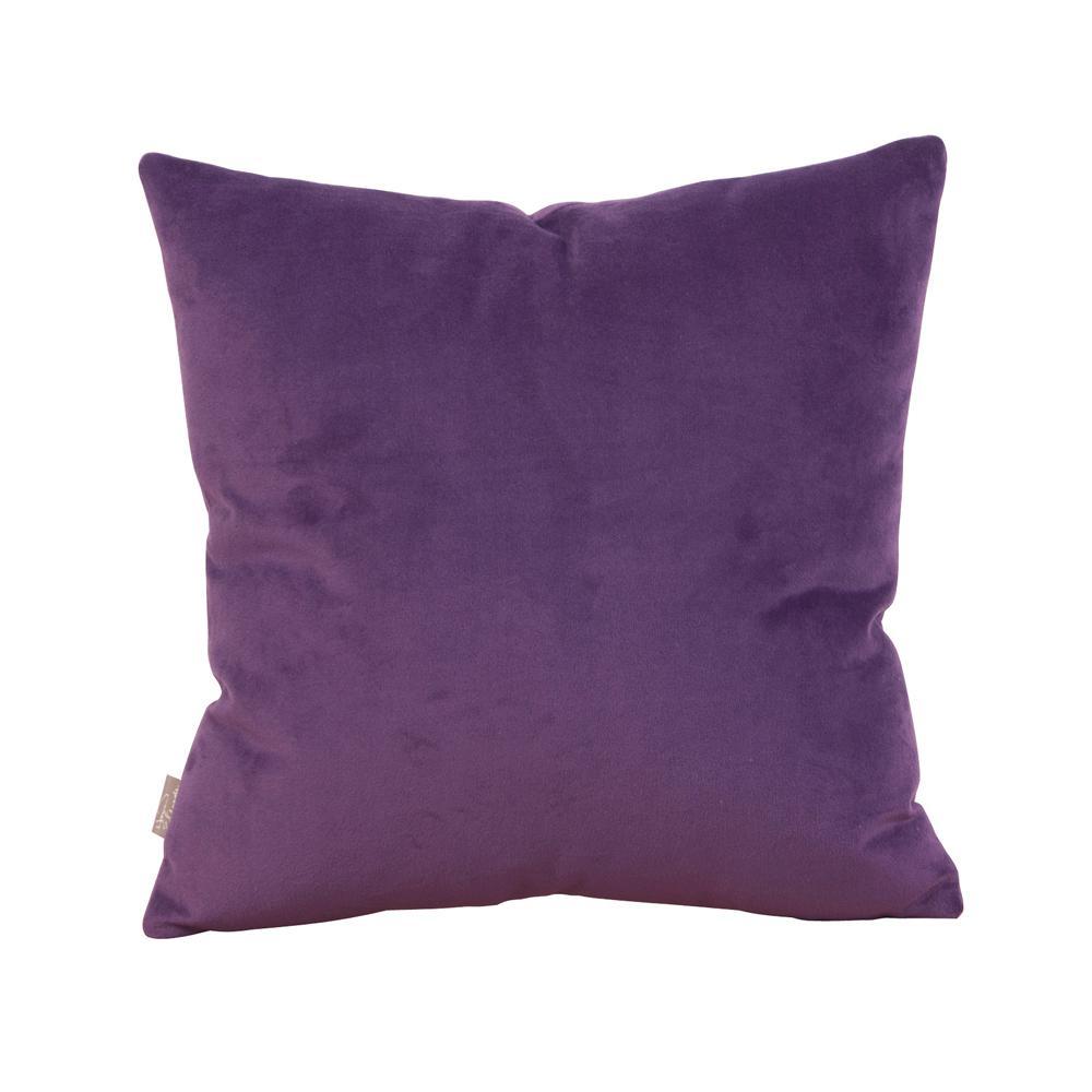 Bella Purple Eggplant 16 in. x 16 in. Decorative Pillow