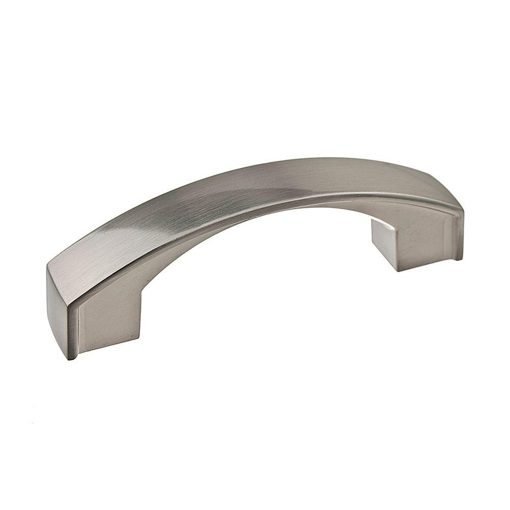 thick satin nickel arch pull