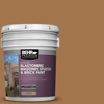 5 gal. #MS-38 Honey Amber Elastomeric Masonry, Stucco and Brick Exterior Paint