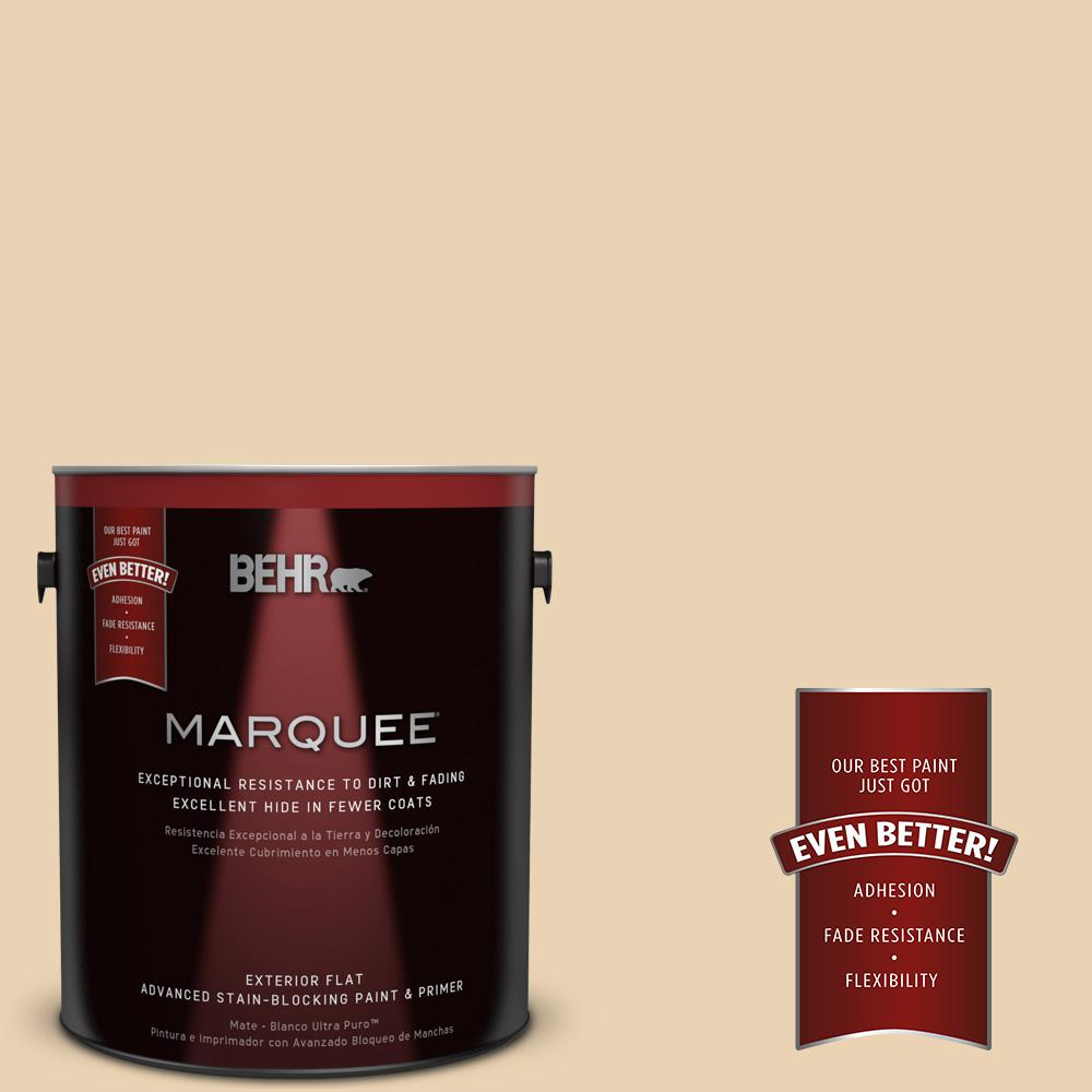 BEHR MARQUEE 1-gal. #ICC-93 Champagne Gold Flat Exterior Paint