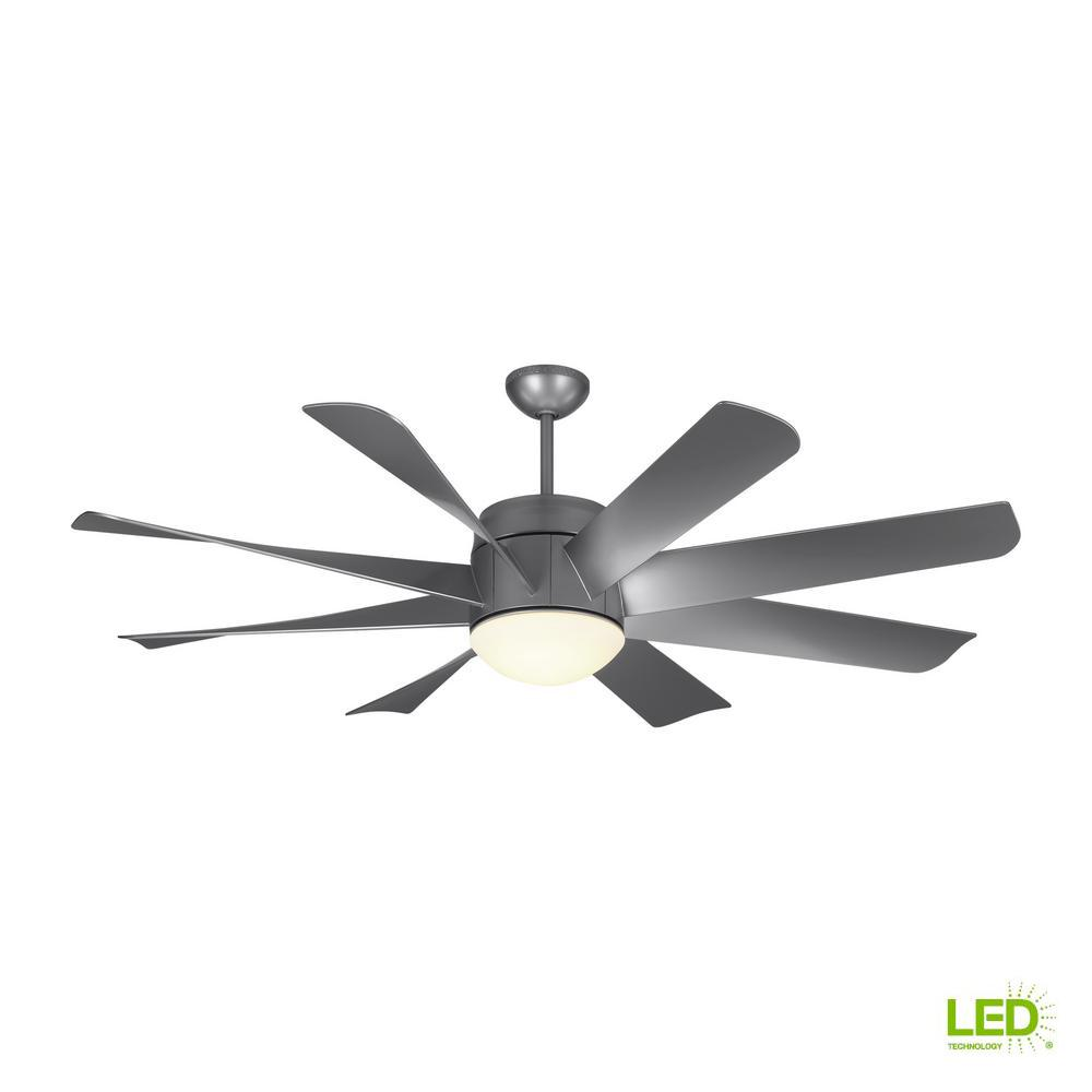 This Review Is From Turbine Led 56 In Indoor Painted Brushed Steel Ceiling Fan