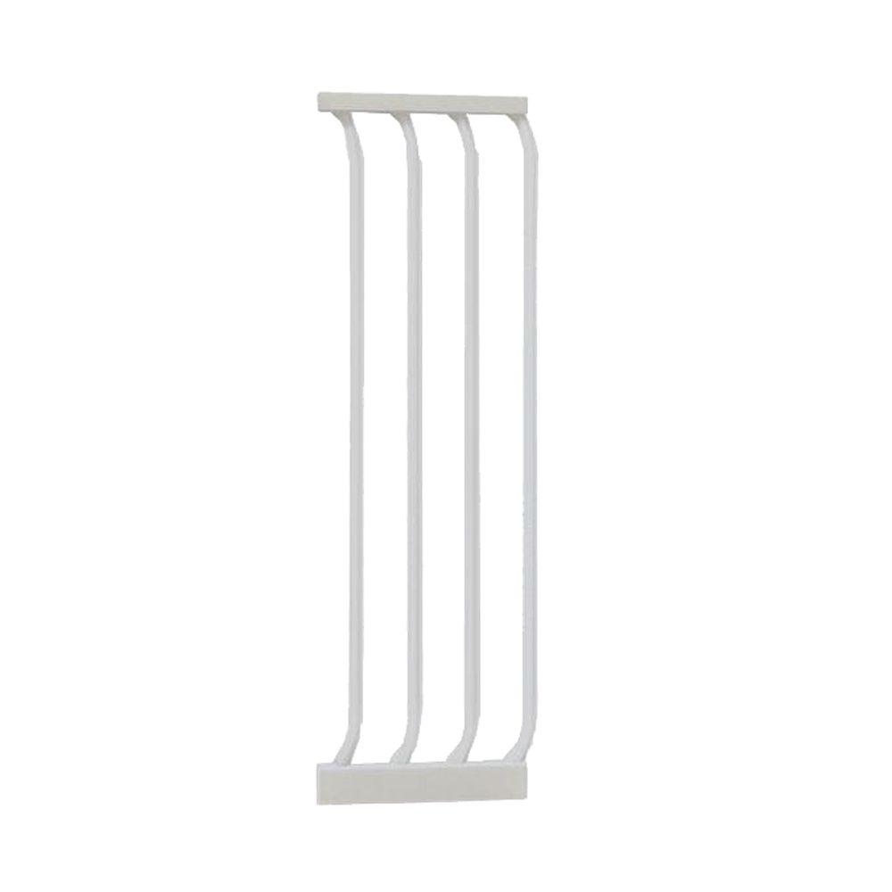 10.5 in. Gate Extension for White Chelsea Standard Height Child Safety