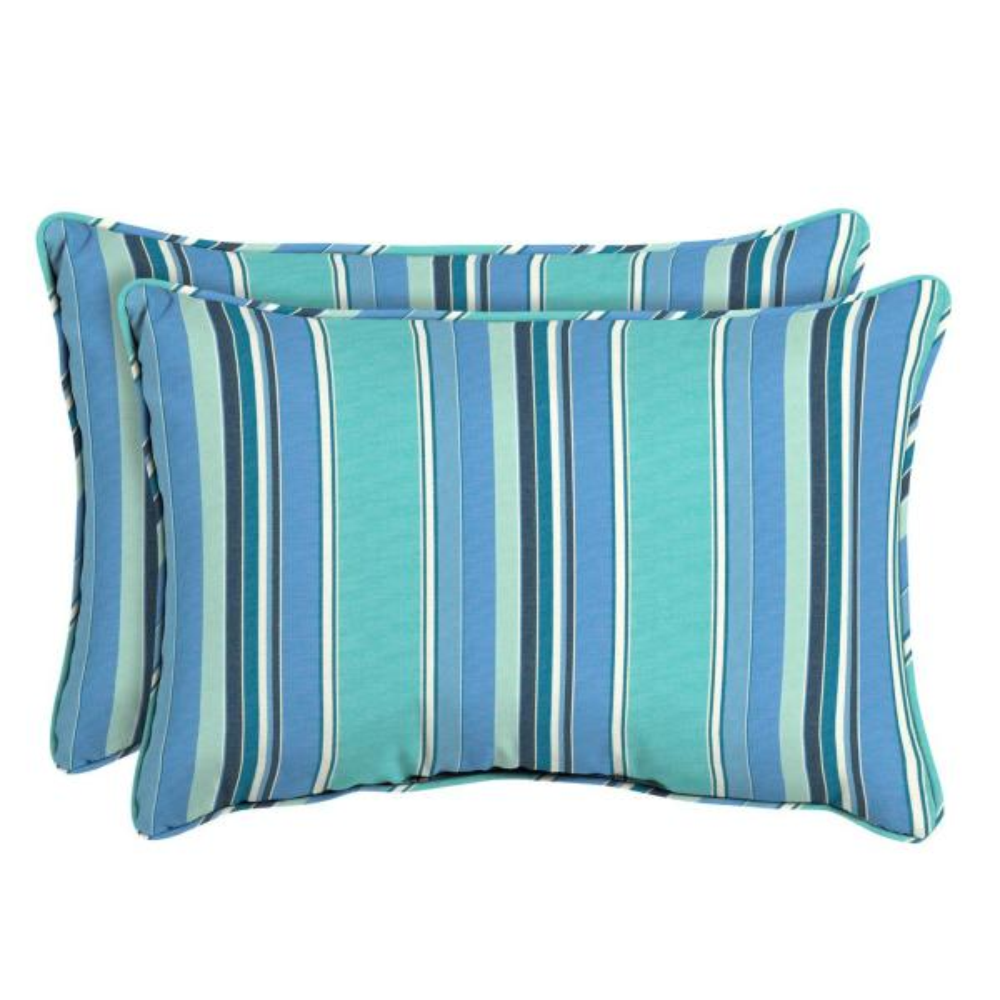Sunbrella Dolce Oasis Oversized Lumbar Outdoor Throw Pillow (2-Pack)