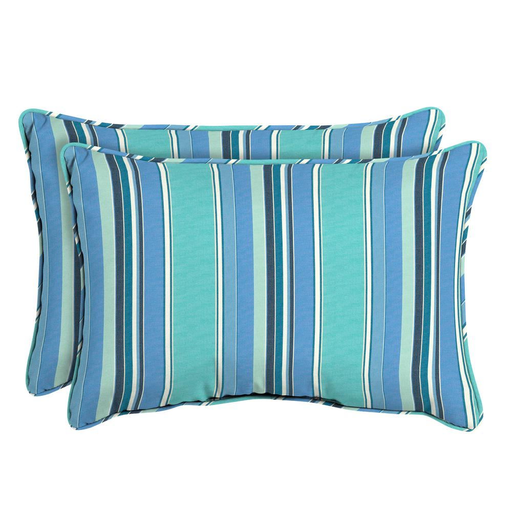 Home Decorators Collection Sunbrella Dolce Oasis Oversized Lumbar Outdoor Throw Pillow (2-Pack)