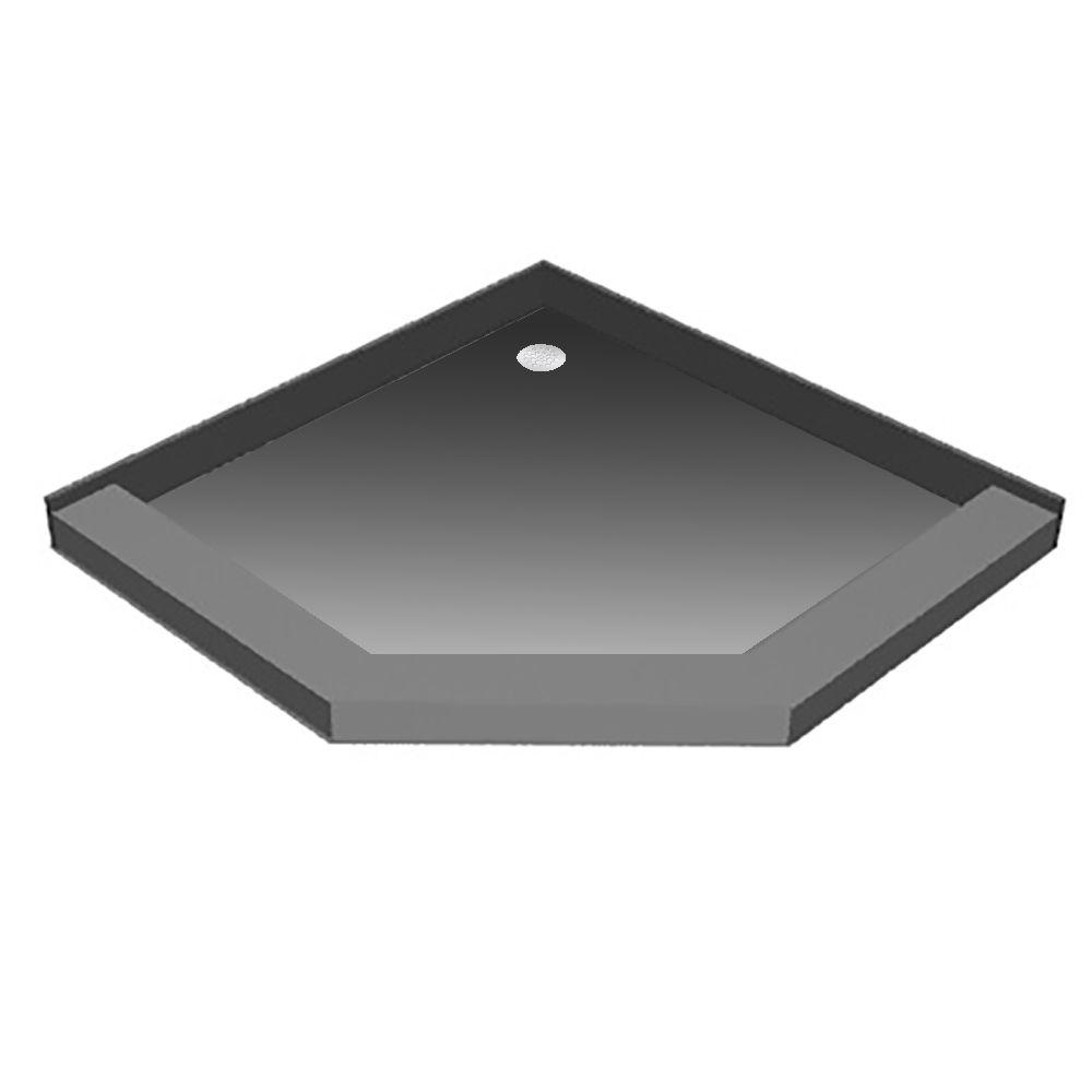 48 in. x 48 in. Neo-Angle Shower Base with Back Drain