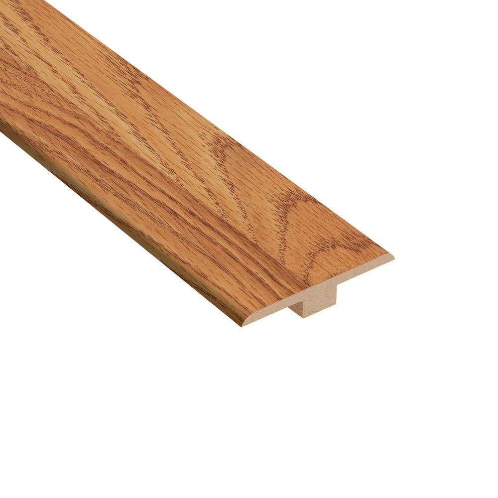 TrafficMASTER Draya Oak 6.35 mm Thick x 1-7/16 in. Wide x 94 in. Length Laminate T-Molding-DISCONTINUED