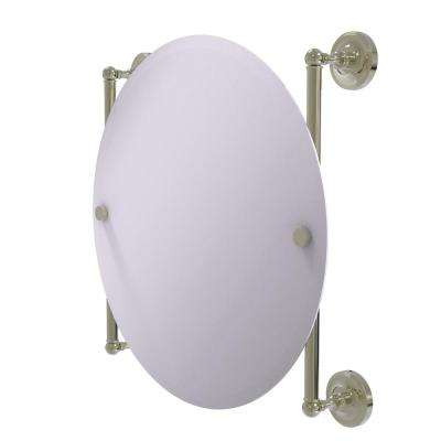 Prestige Regal Collection Round Frameless Rail Mounted Mirror in Polished Nickel
