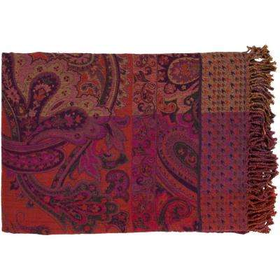 Monet Rust Orange Throw