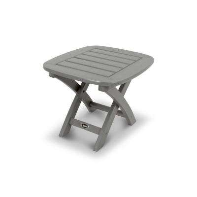Yacht Club 21 in. x 18 in. Stepping Stone Patio Side Table