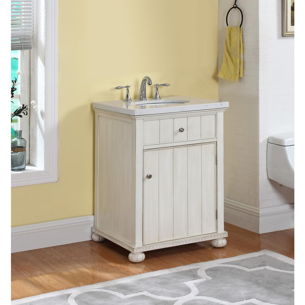 Crawford burke hampton 23 in w x 21 in d vanity in - Crawford and burke bathroom vanity ...