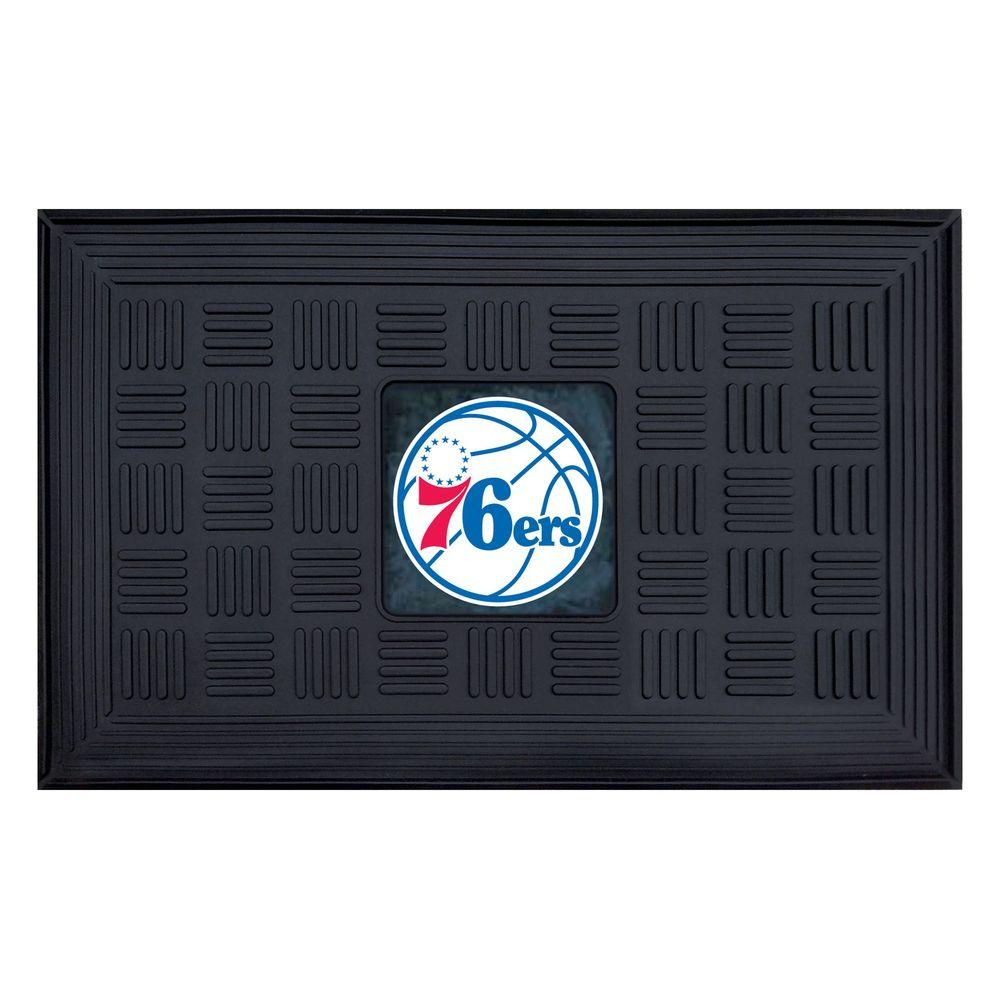 FANMATS Philadelphia 76ers 18 in. x 30 in. Door Mat