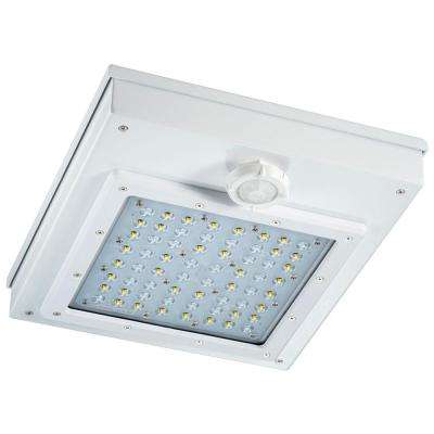 55-Watt 360-Degree White Motion Activated Outdoor Integrated LED Area Light with Motion Sensing