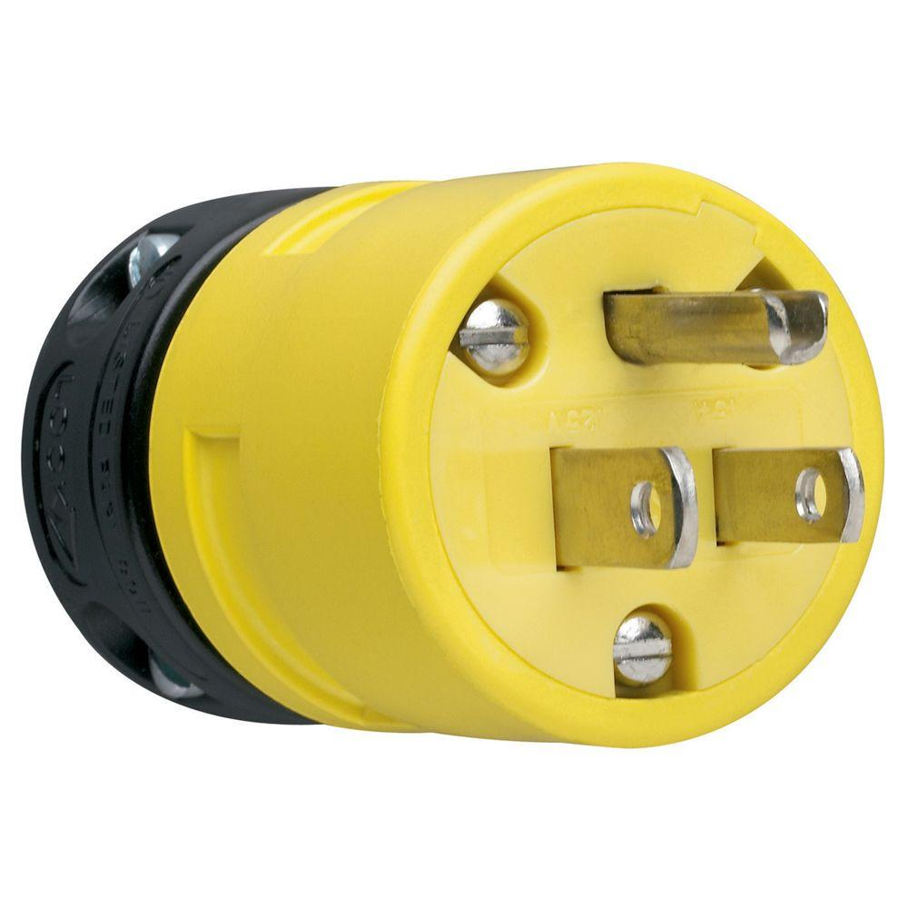 15 Amp 125-Volt Rubber Dust Tight Plug
