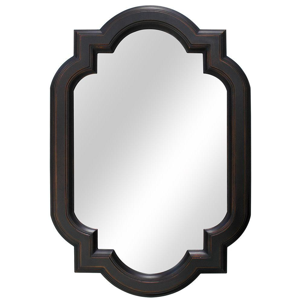 Home decorators collection 22 in w x 32 in l framed fog free wall mirror in oil rubbed bronze - Home decor wall mirrors collection ...
