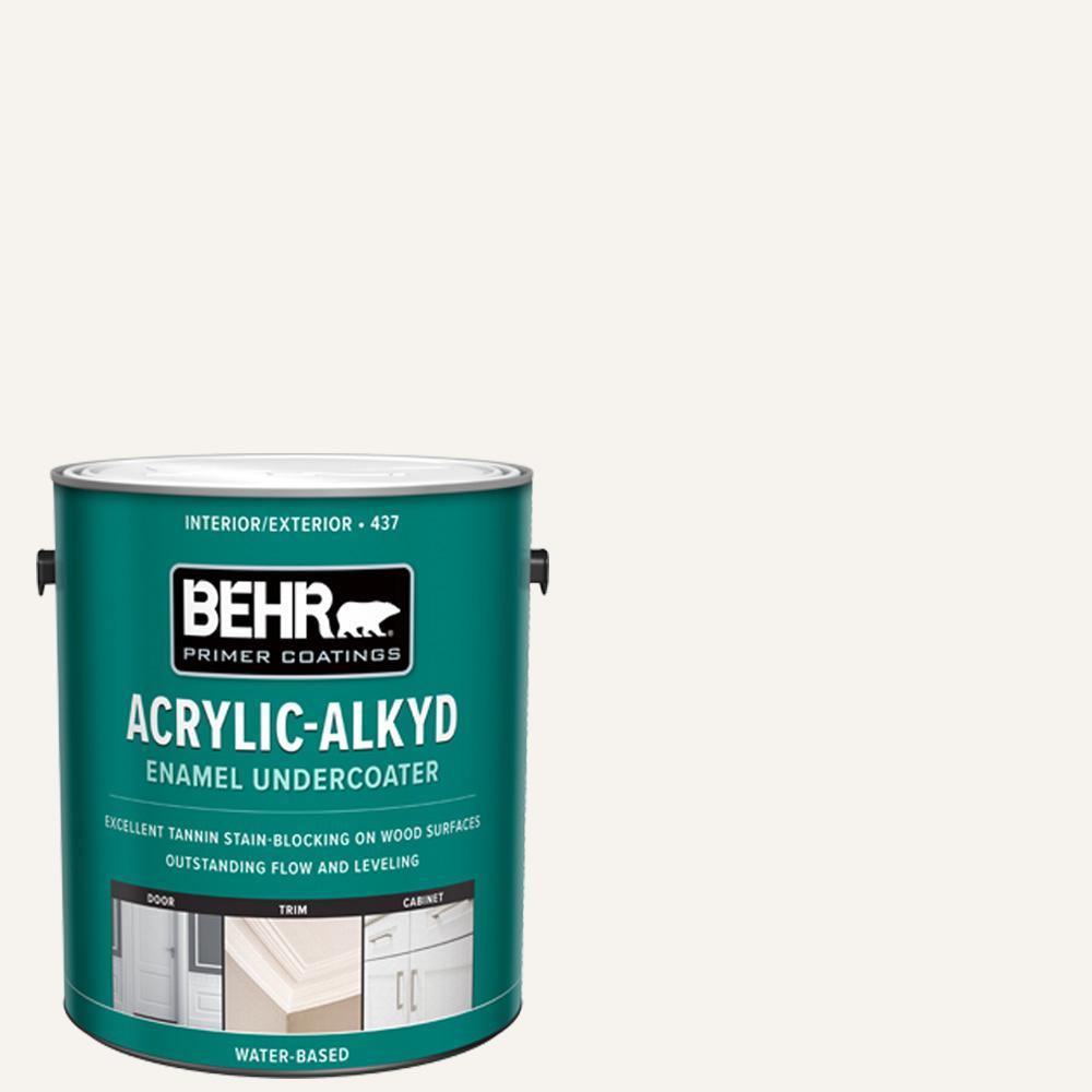 BEHR 1 Gal. White Acrylic Alkyd Interior/Exterior Enamel Undercoated Primer