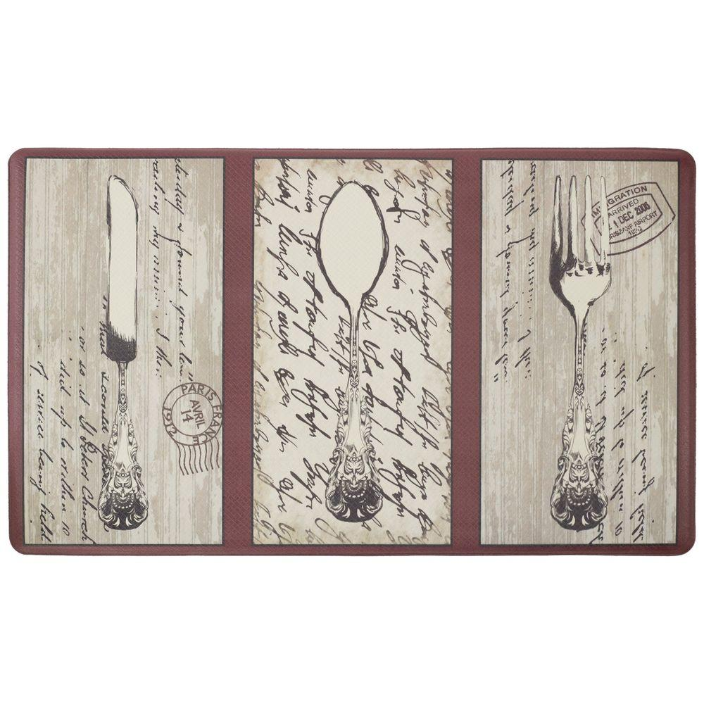 Chef Gear Silverware 18 In. X 30 In. Foam Comfort Kitchen Mat