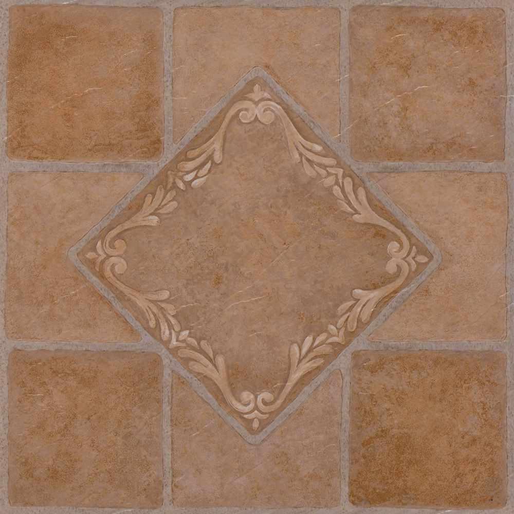 Nexus Rust 12 in. x 12 in. Peel and Stick Ceramic Pattern Vinyl Tile (20 sq. ft./case)