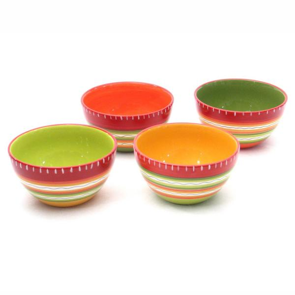 Certified International Hot Tamale Ice Cream/Cereal Bowl (Set of 4) 14275SET/4