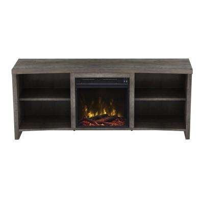 Shelter Cove 59.5 in. Media Console Electric Fireplace in Valley Pine Driftwood