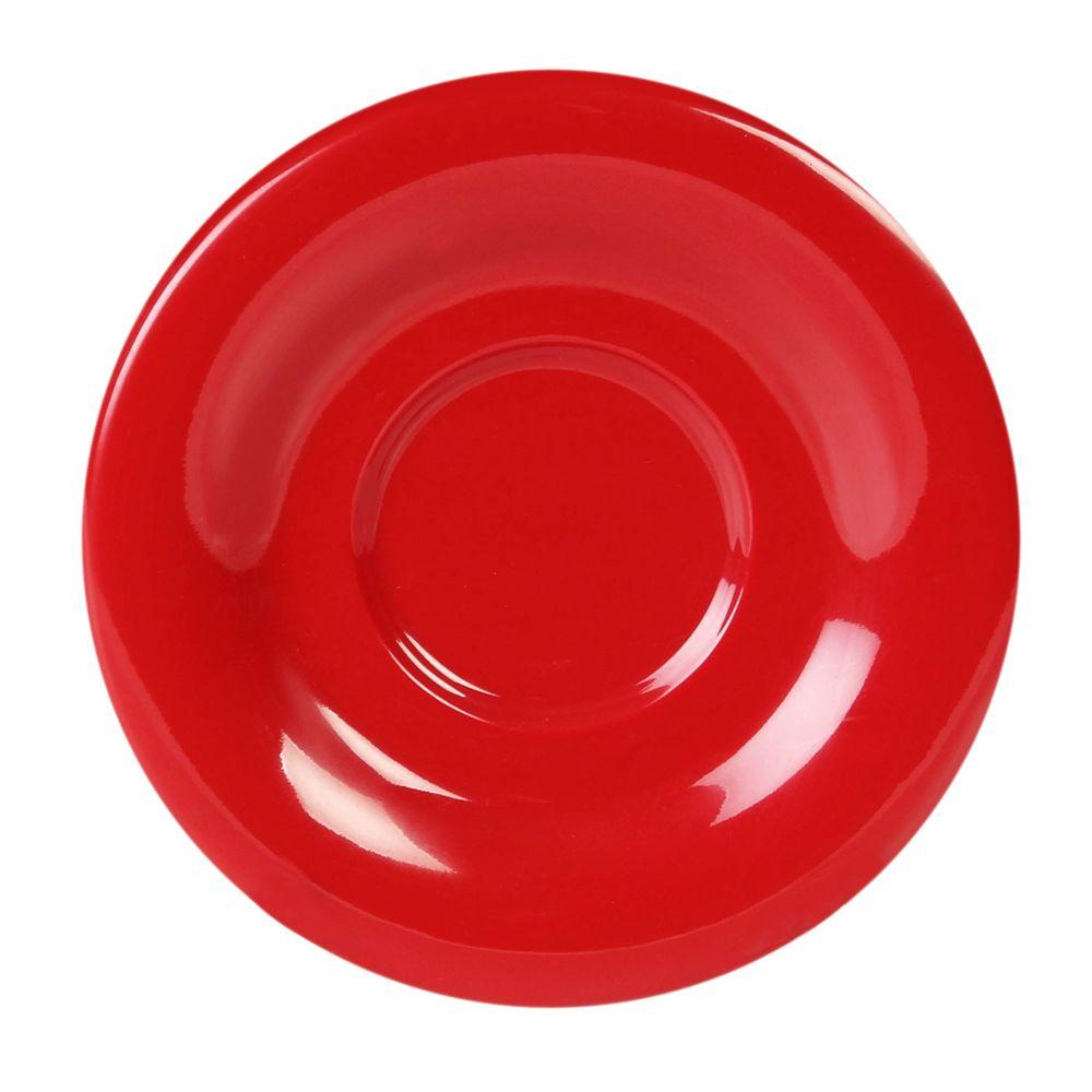 Restaurant Essentials Coleur 5-1/2 in. Saucer for Cr313/Cr5044/Ml901/Ml9011 in Pure Coleur Red (12-Piece)
